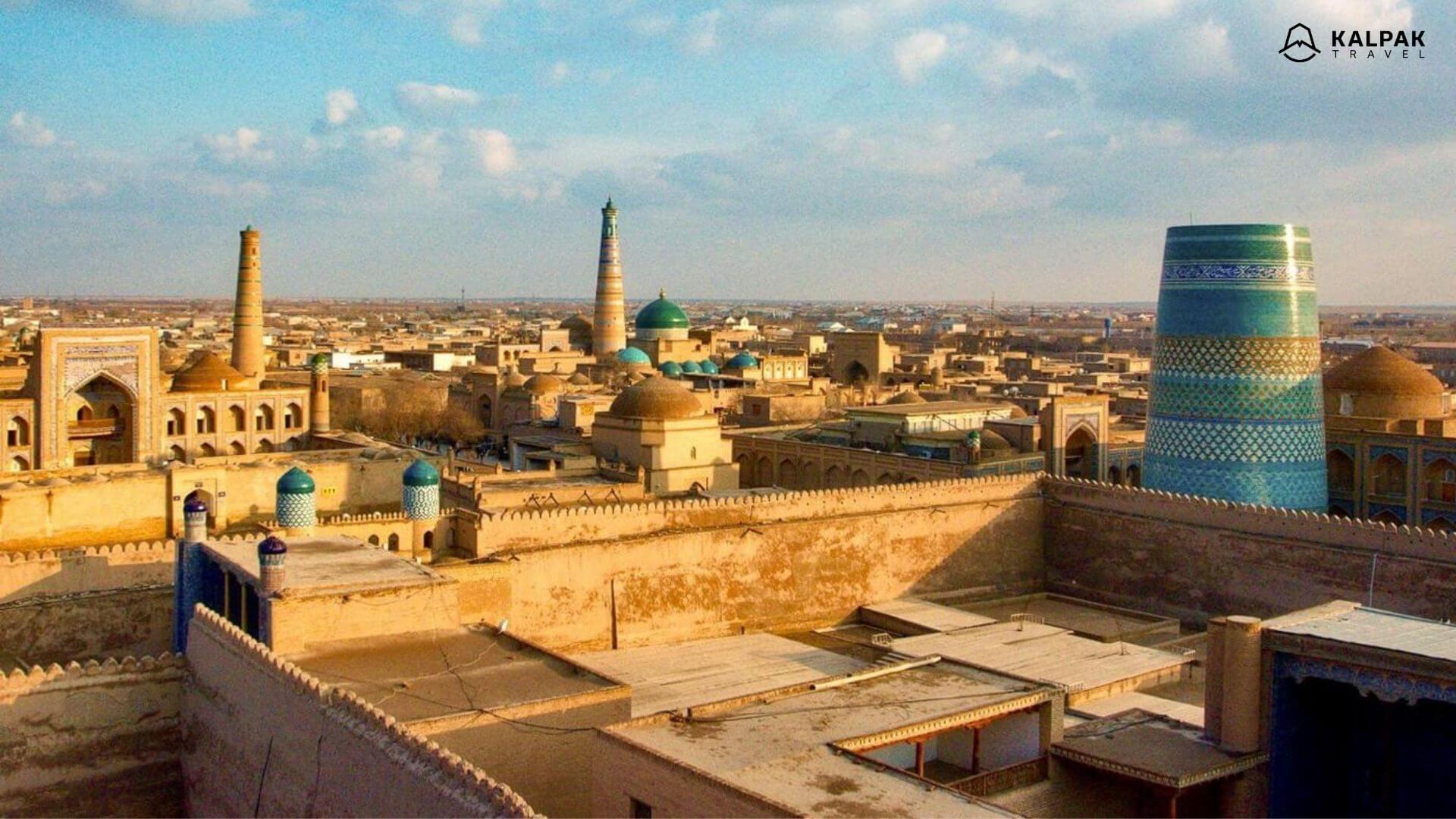 Khiva is a Silk Road city in Uzbekistan
