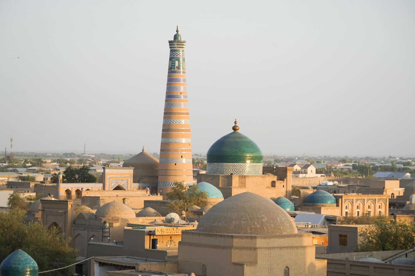 Chiwa ist Seidenstrasse stadt in Zentralasien