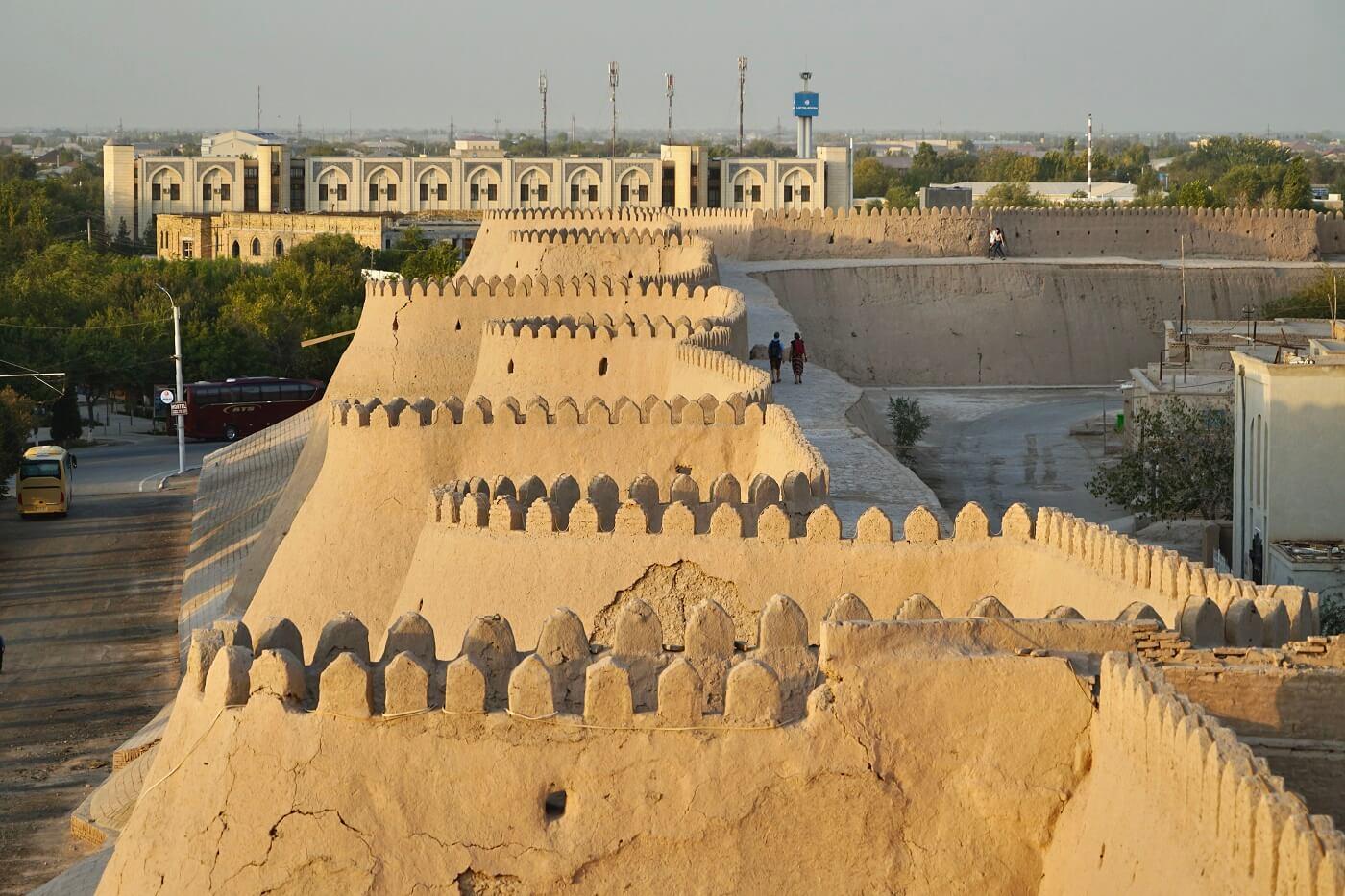 Khiva city Walls in Uzebkistan