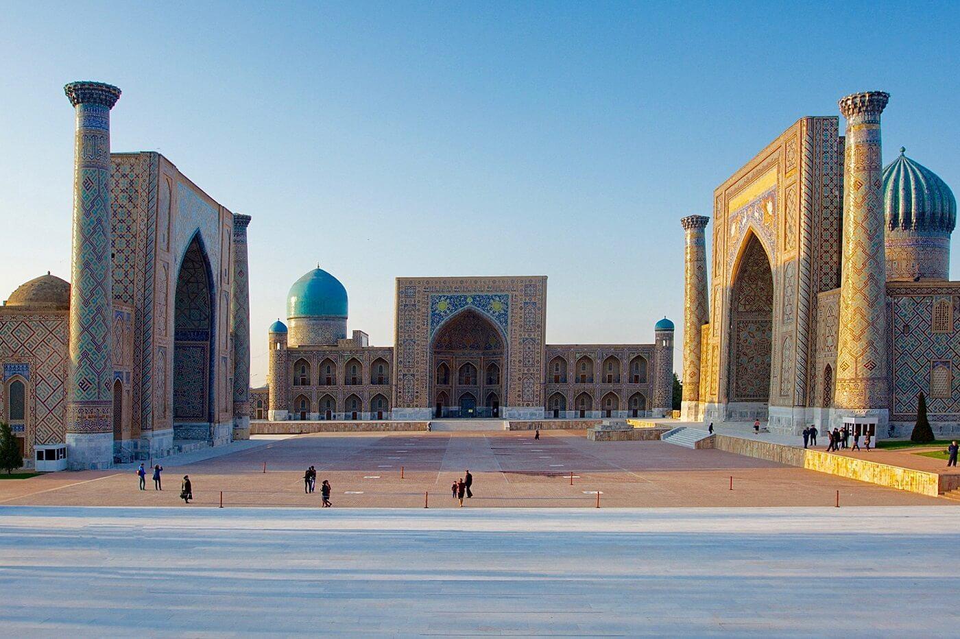 Registan Platz in Samarkand Usbekistan