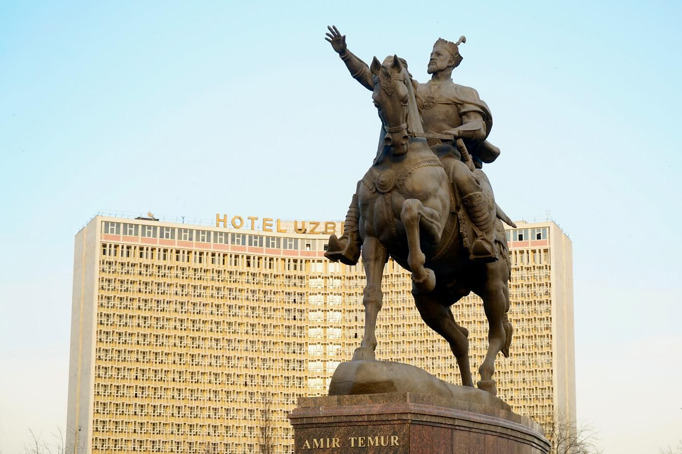 Amir Timur statue in Tashkent, Uzbekistan