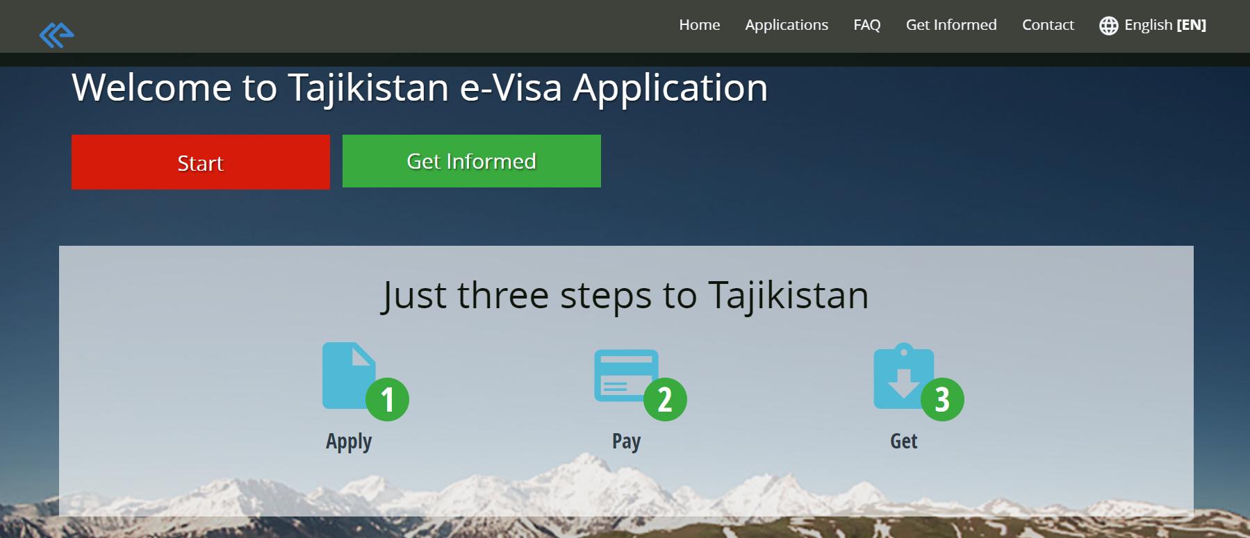 Tajikistan Visa website
