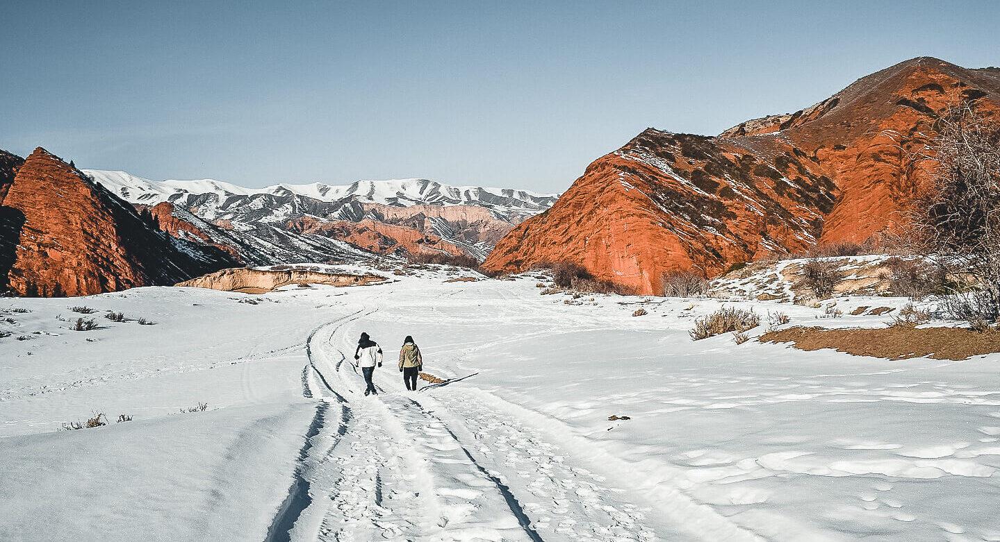 Jeti Oguz in winter, Kyrgyzstan