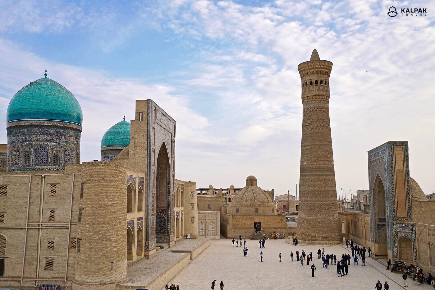 Buchara minaret in Usbekistan