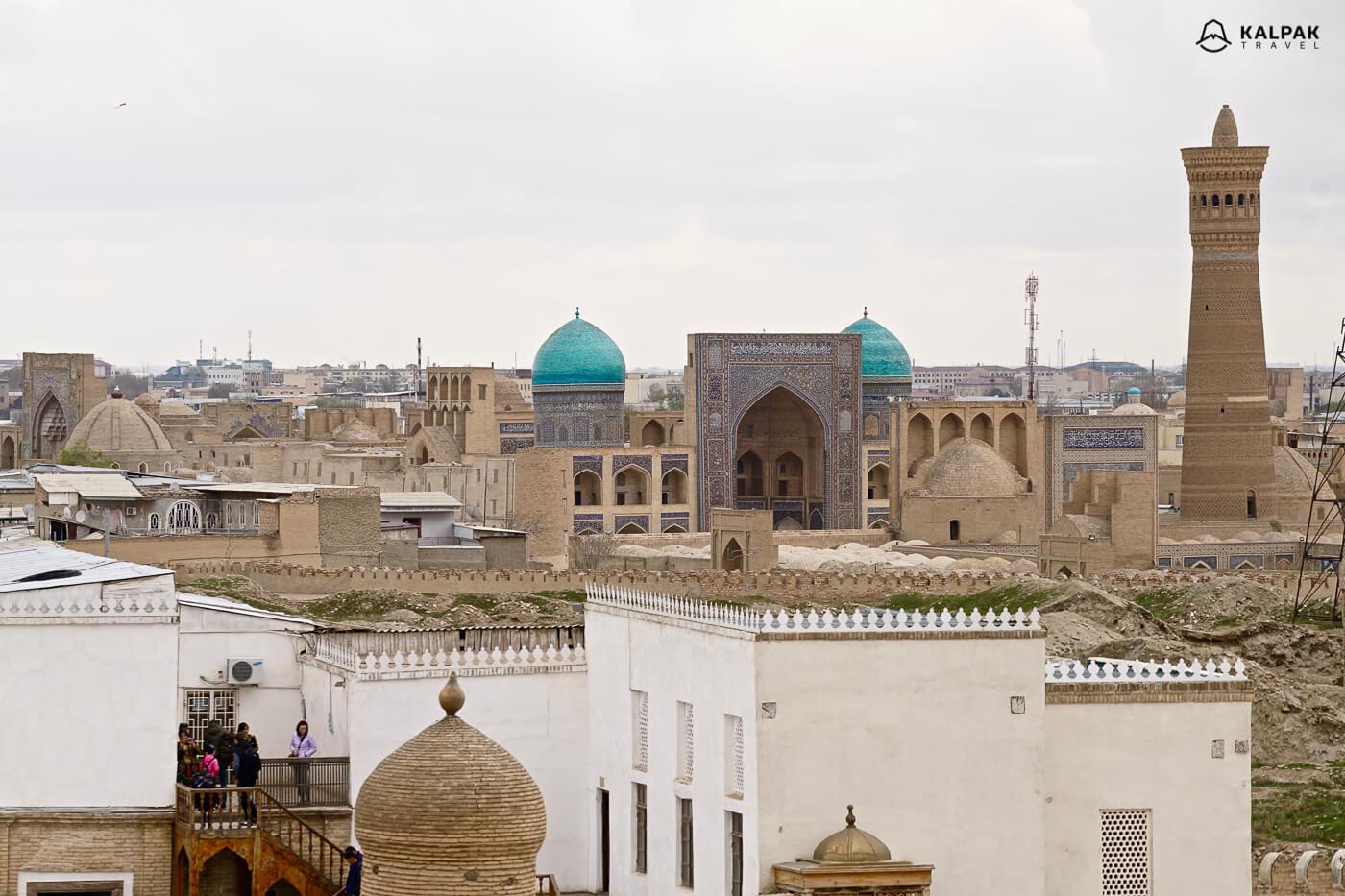 Buchara Altstadtaussicht in Usbekistan