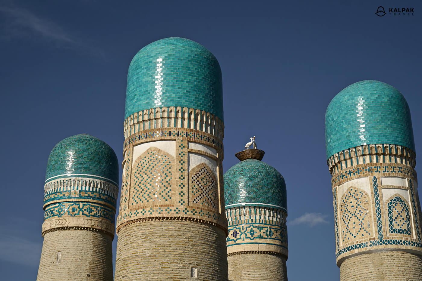 Tschor Minor moschee mit 4 Türme in Buchara