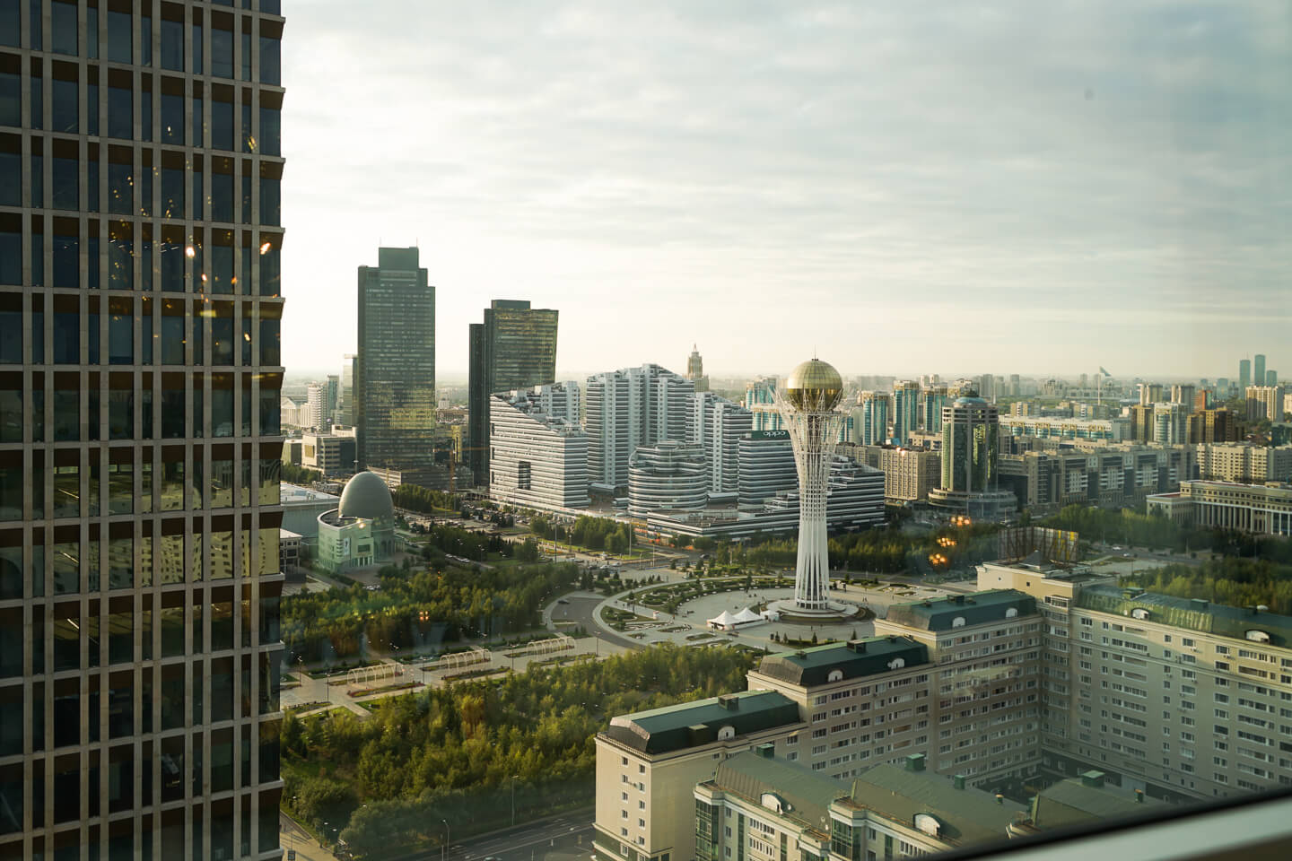 Nur-Sultan panoramic view of the city