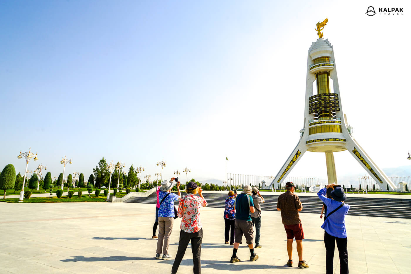 Neutrality monument in Ashgabat