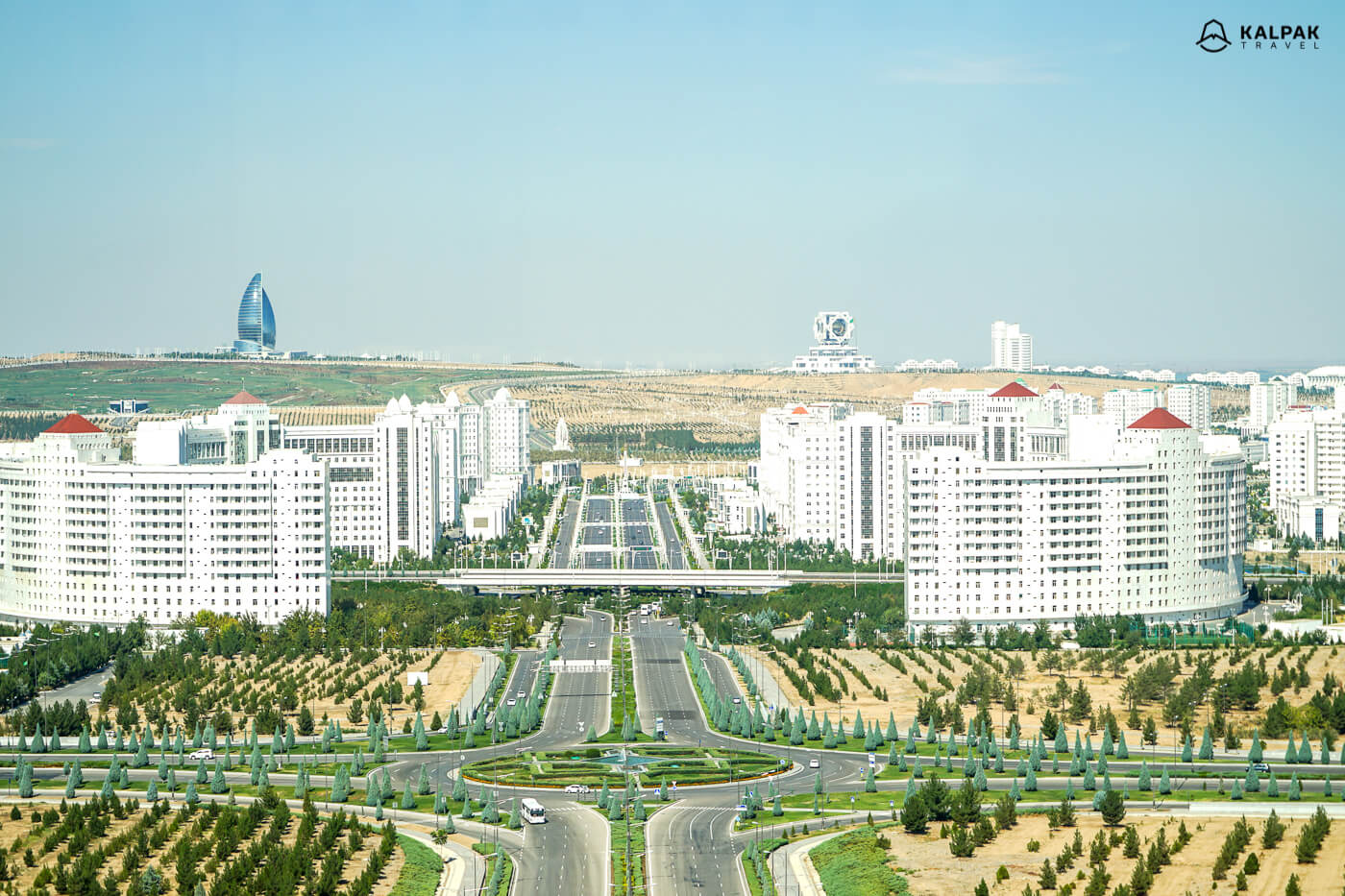 Ashgabat is full of white marble city