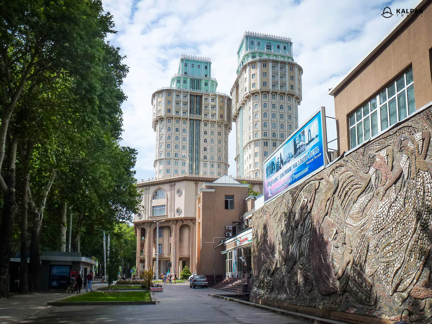 Dushanbe Plaza or high twin buildings in Dushanbe