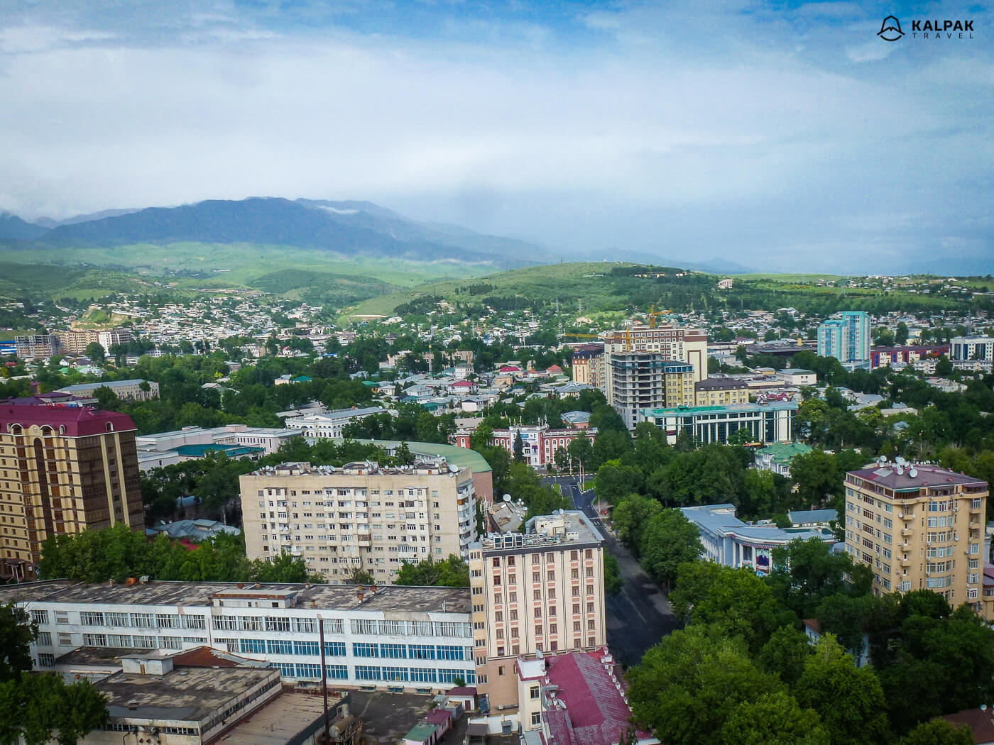 Dushanbe view of the city from above