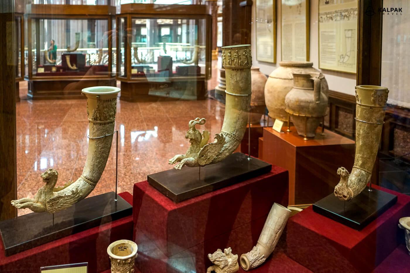 rhytons in Ashgabat museum