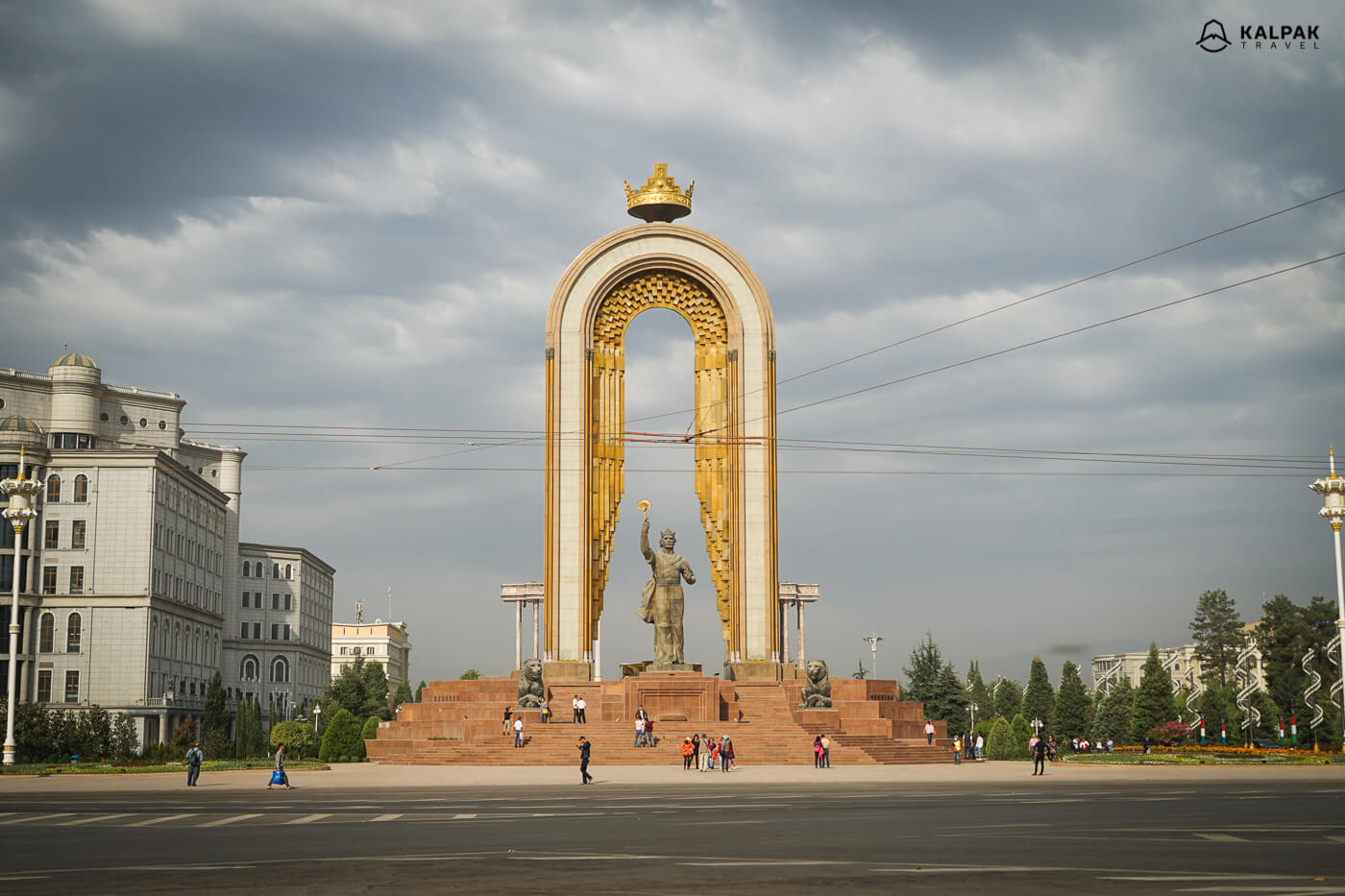 Somoni Statue in the centre of Dushanbe