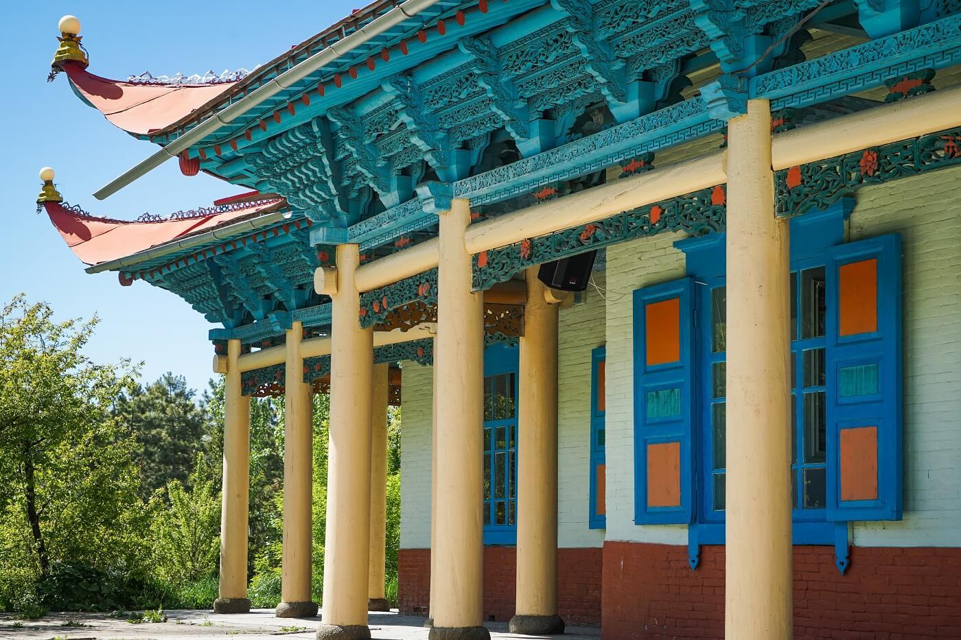 Karakol Dungan Mosque in Kyrgyzstan